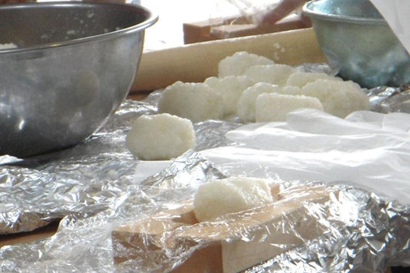 五平餅準備